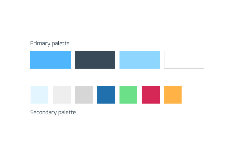 4D-monitoring brand design color palette