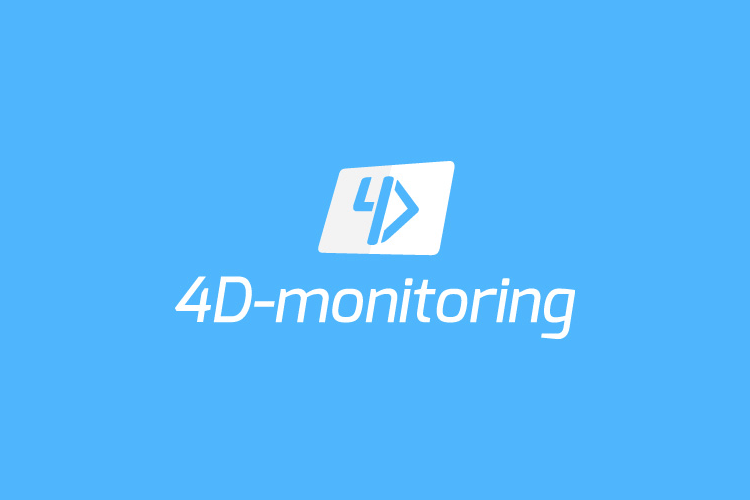 4D-monitoring logo design inverse