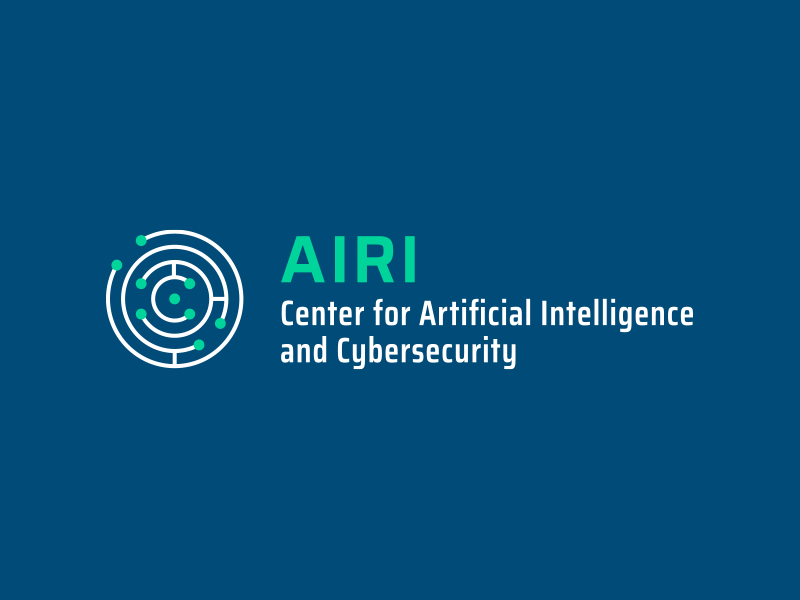 Center for Artificial Intelligence and Cybersecurity logo & brand identity design
