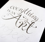 "Hand lettering process: ""Everything is an art project"""