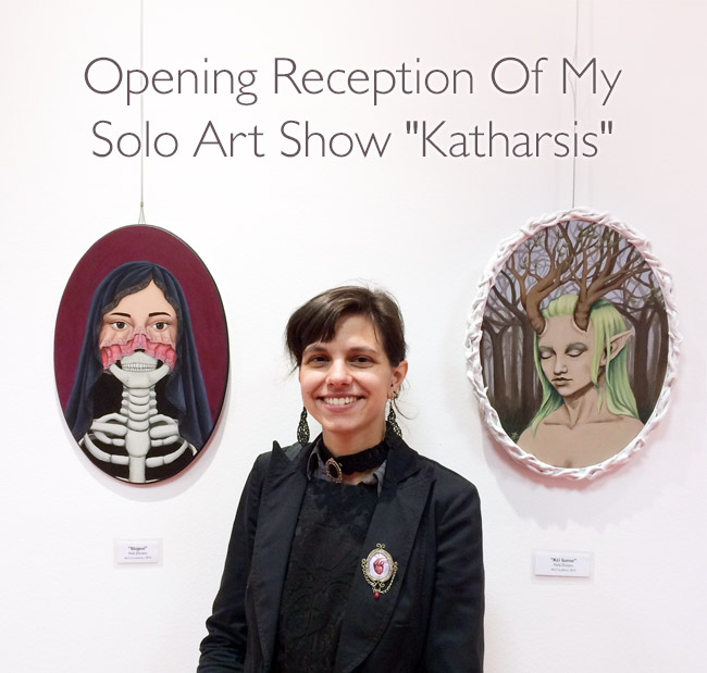 Opening Reception Of My Solo Art Show Katharsis in Karlovac