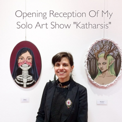 Opening reception of my solo art show 'Katharsis'