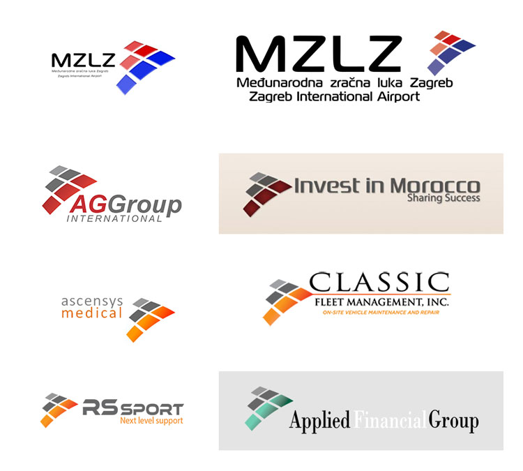 Zagreb International Airport logo and its look-alikes
