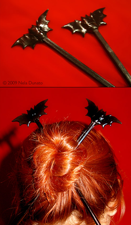 Bat hair sticks