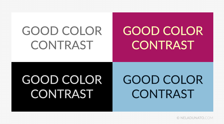 Beginner design mistakes - Good color contrast