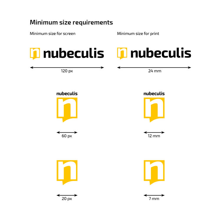 Branding Guidelines - Logo minimum size