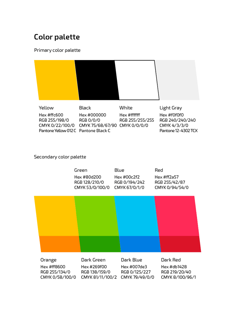 Branding Guidelines - Color palette