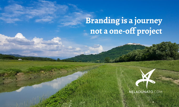 Branding is a journey, not a one-off project