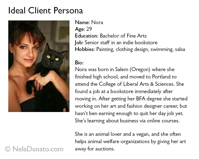 Ideal client persona example