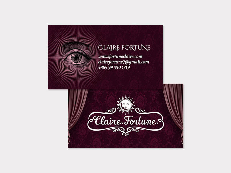 Claire Fortune business card
