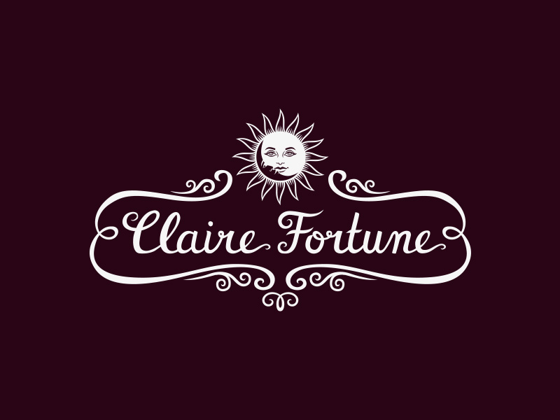 Claire Fortune hand lettered logo & brand identity design
