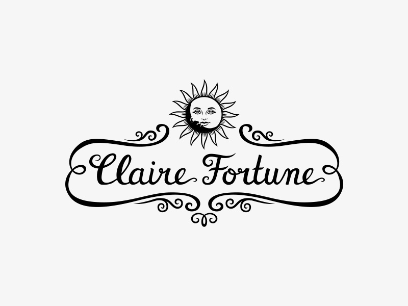 Claire Fortune hand lettered logo design