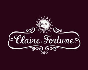 Claire Fortune hand lettered logo & brand design