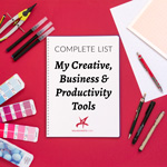 My complete list of creative, business & productivity tools