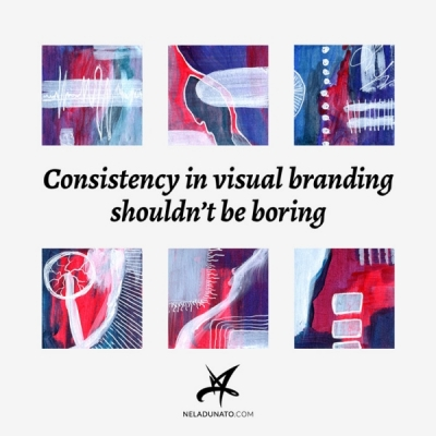 Consistency in visual branding shouldn't be boring