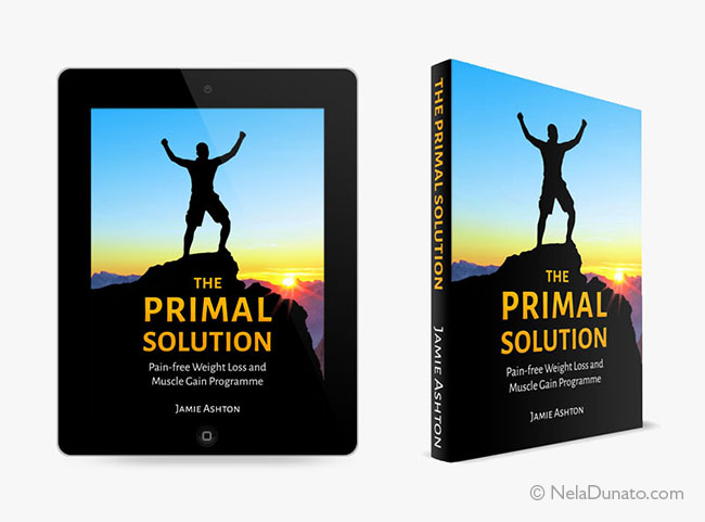 Book & ebook cover design for The Primal Solution