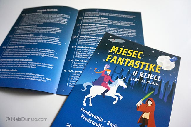 Flyer design for fantasy festival Mjesec fantastike