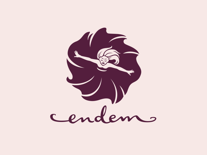 Endem hand-lettered logo design and brand identity