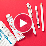 My favorite black, white & red mixed media art supplies (video compilation)