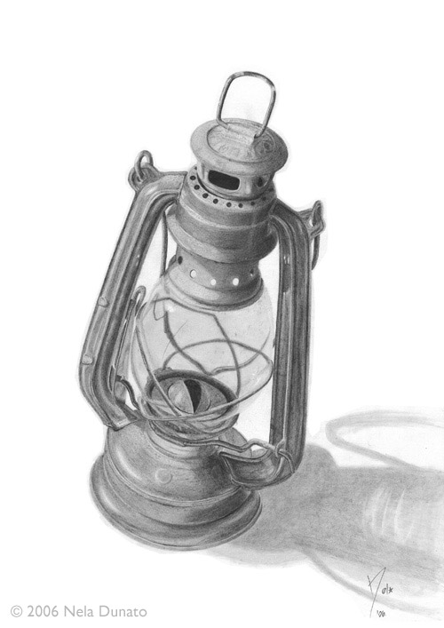 Oil lamp by Nela Dunato