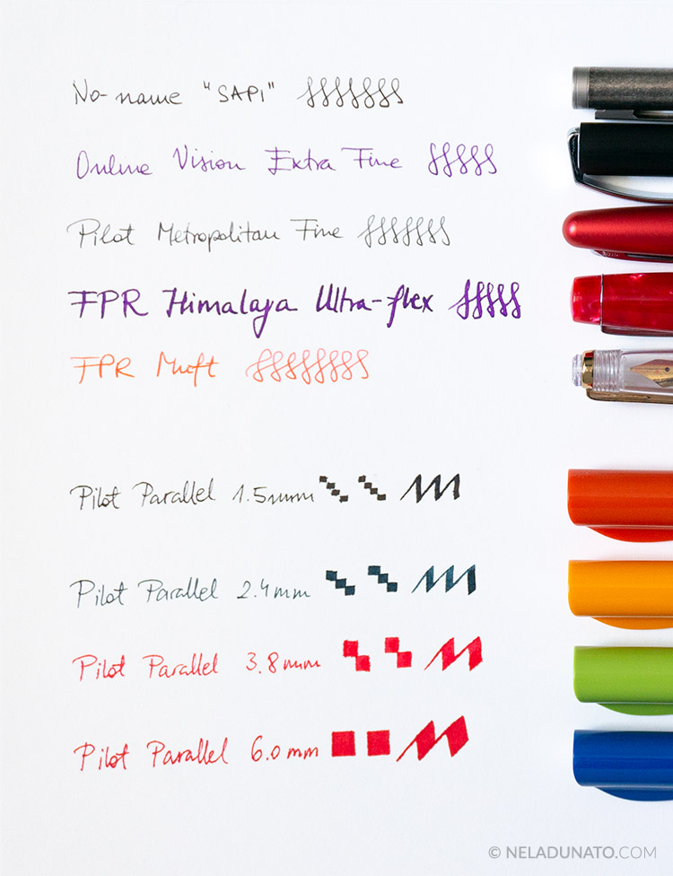 Nela Dunato's fountain pen collection 2019 - writing samples