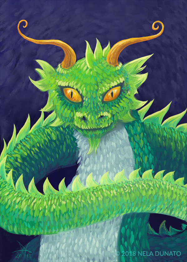 Green Dragon by Nela Dunato