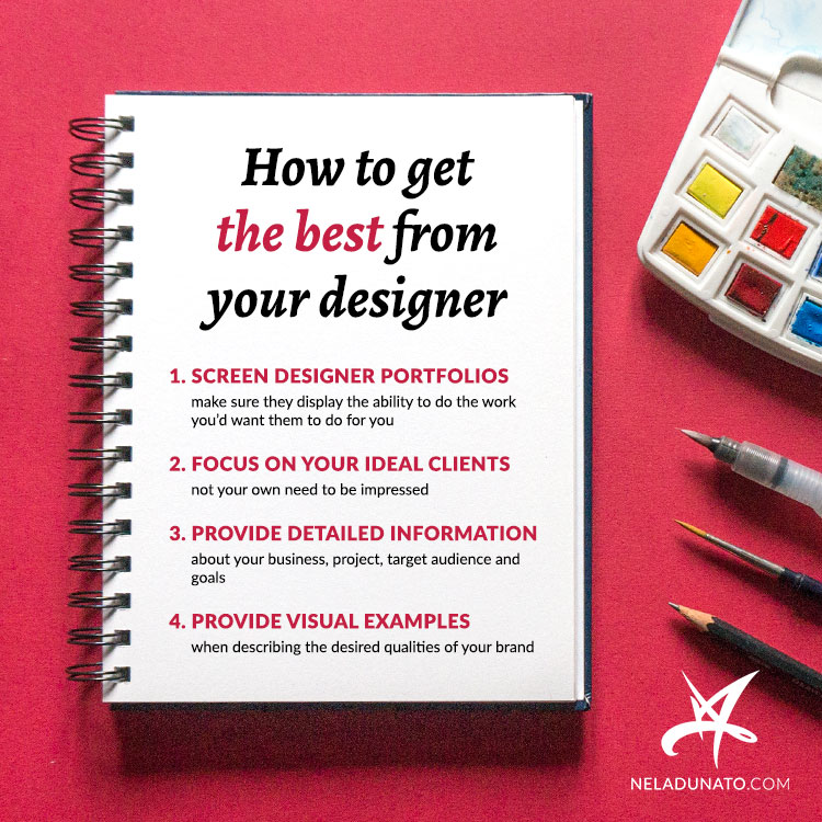 How to get the best from hiring a designer