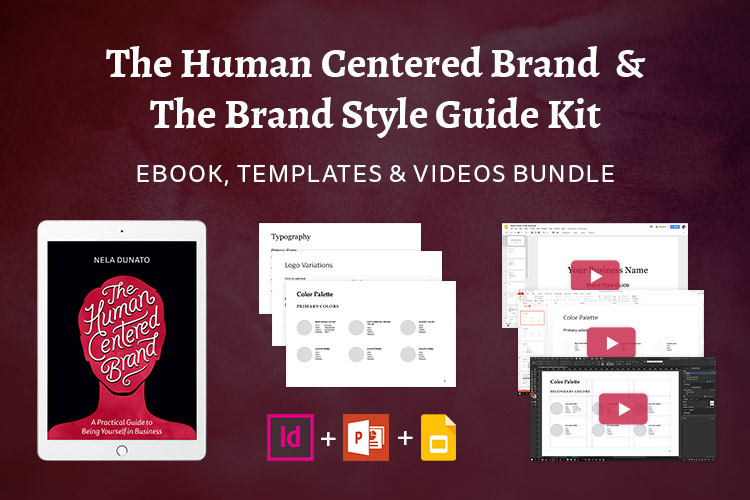 The Human Centered Brand Book & Brand Style Guide Bundle