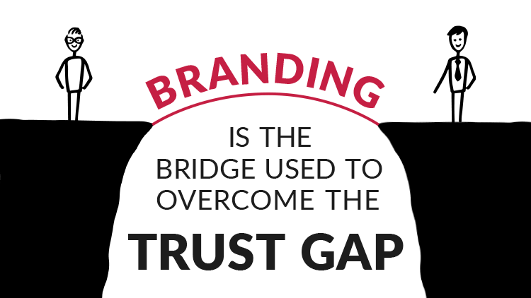 Branding is the bridge used to overcome the trust gap