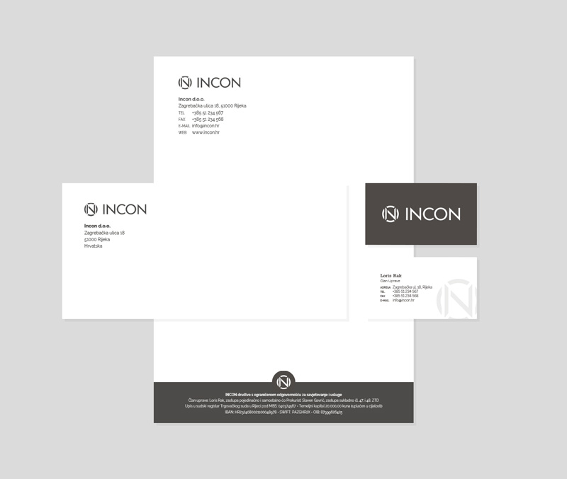 Incon visual identity - stationery design