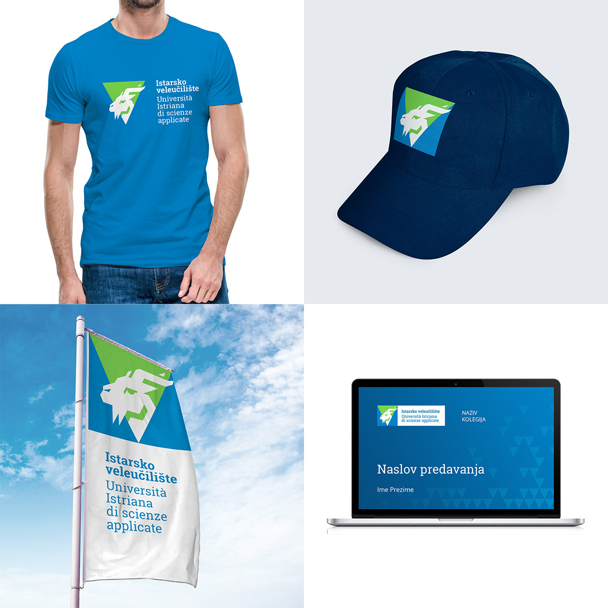 Istarsko veleuciliste brand identity - Apparel, flag and presentation