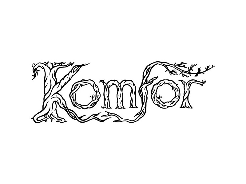 Komfor hand-lettered music band logo
