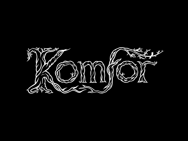 Komfor hand-lettered band logo