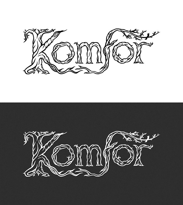 Komfor band logotype - final design