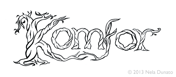Komfor band logo lettering - second round