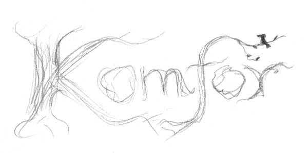 Komfor band logo sketch