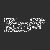 Komfor hand lettered band logo