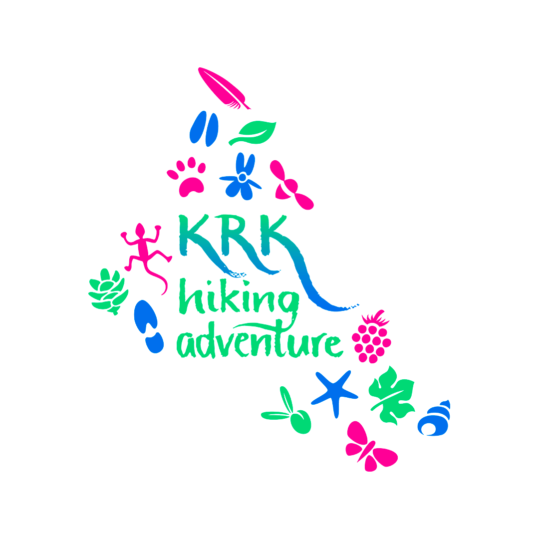 Krk Hiking Adventure logo and brand identity design