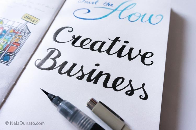 Sketchbook lettering Creative Business