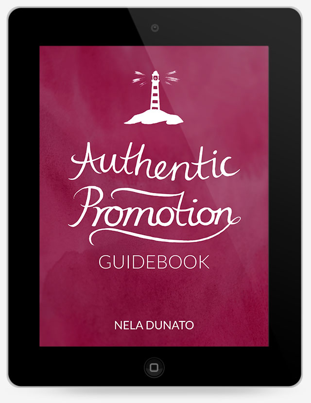 Authentic Promotion hand-lettered ebook cover