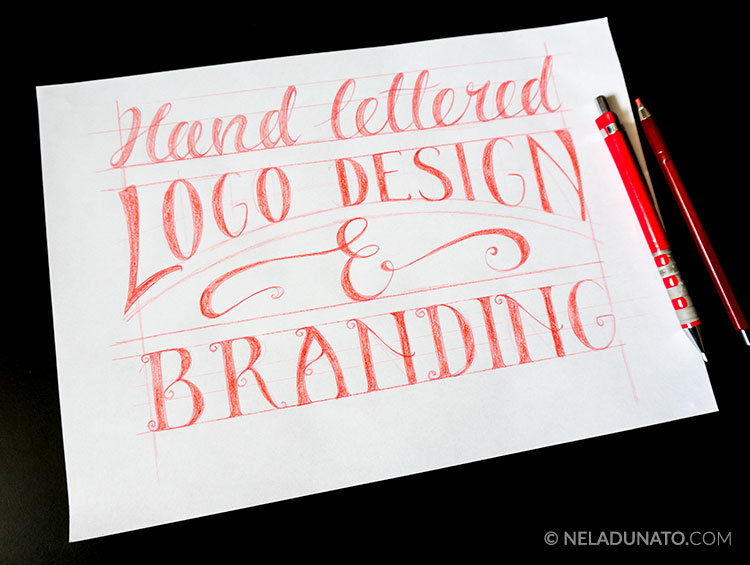 Hand lettered logo design and branding
