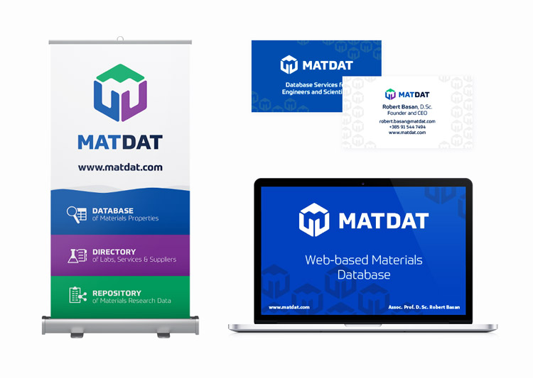 MATDAT rollup and presentation graphic design