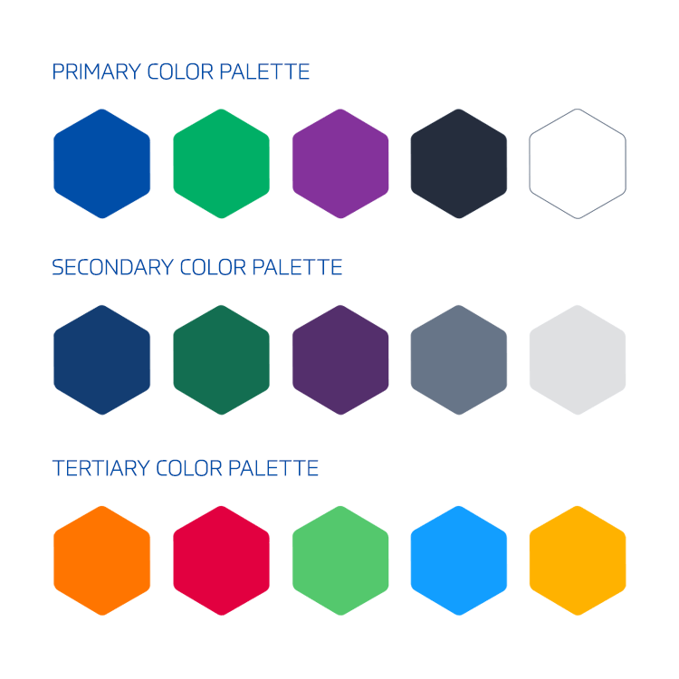 MATDAT visual brand - color palette