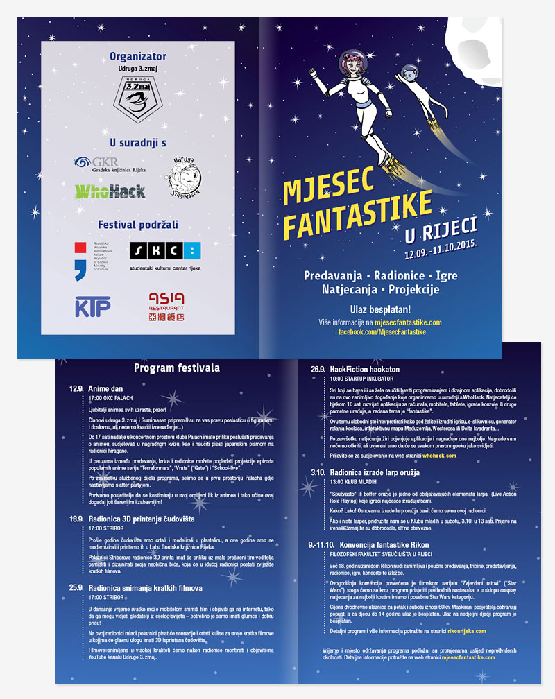 Mjesec fantastike 2015 illustrated flyer