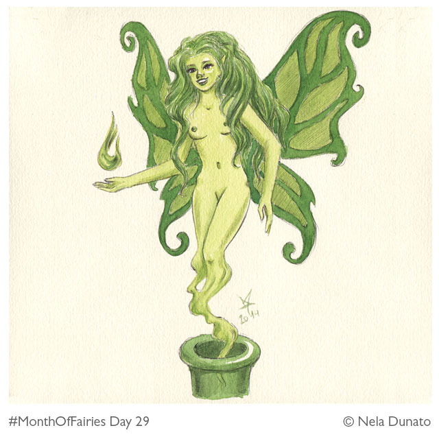 Month of Fairies Day 29 - La Fée Verte