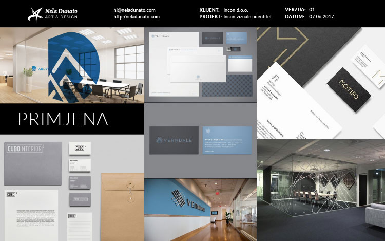 Mood board: Brand identity applications examples