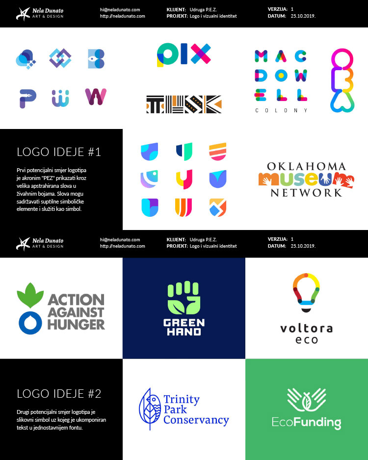 Mood board: Logo direction examples