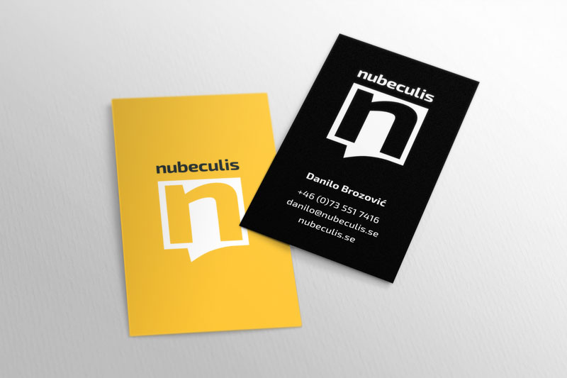 Nubeculis business card design
