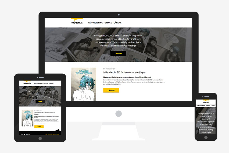 Nubeculis responsive WordPress website design