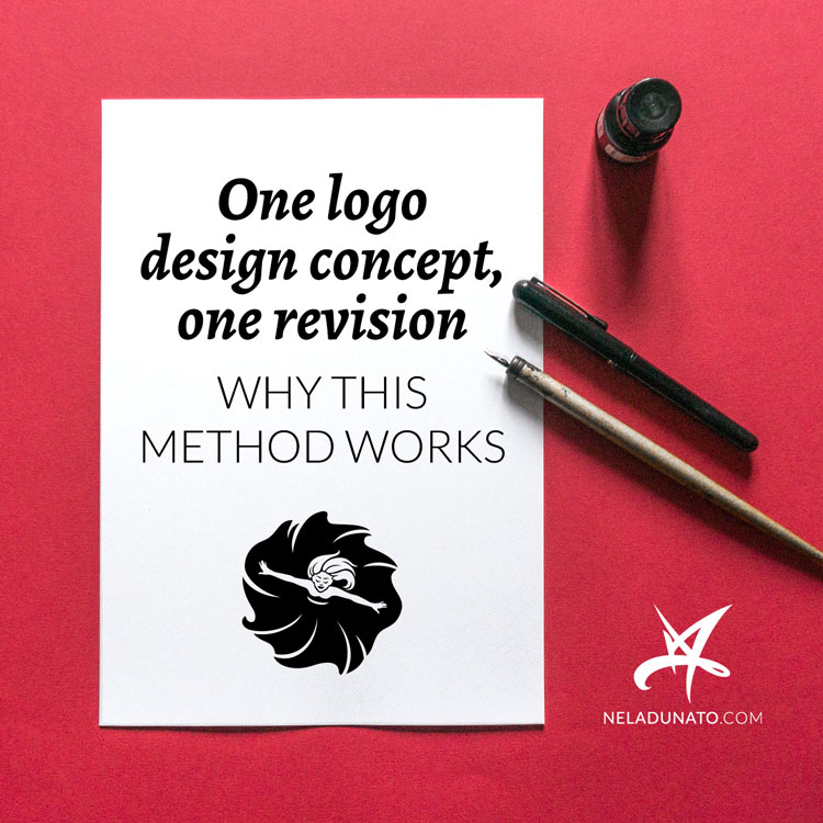 One logo design concept, one revision: why this method works